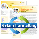 Retain Document Formatting