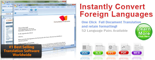 Language converter, translation of foreign languages
