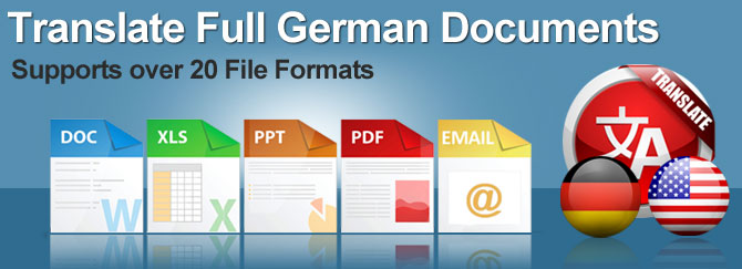 German Full Document Translator