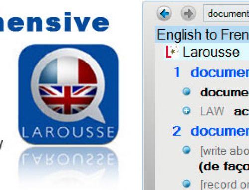 Larousse dictionary FREE with our French translation software