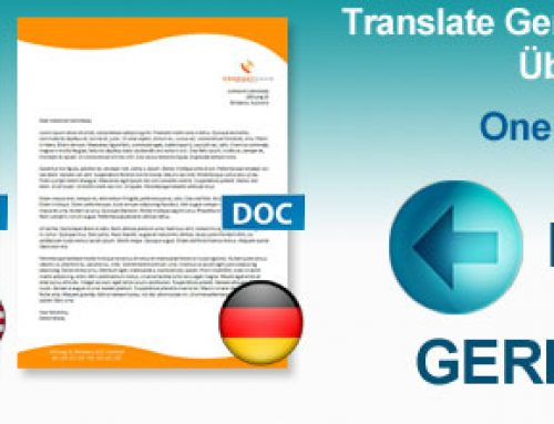 Translating Word documents from German to English